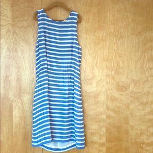 JCrew silk striped dress